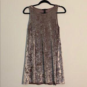 Forever 21 velvet like dress size xs light brown